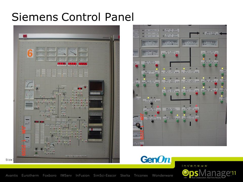 Siemens Control Panel Numbered text slide [from Slide Master]